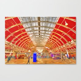 Paddington Railway Station Pop Art Canvas Print