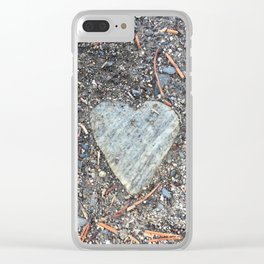 Wild Rock Heart Clear iPhone Case