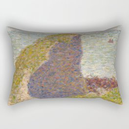 Study for Le Bec du Hoc, Grandcamp Rectangular Pillow