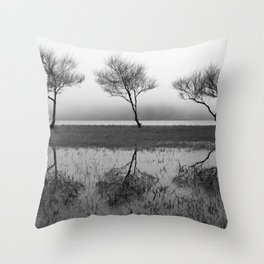 Three trees Throw Pillow