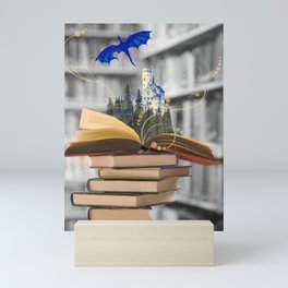 Books are magical Mini Art Print