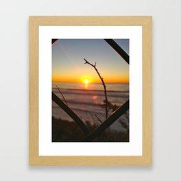 Uncaged Sunset Framed Art Print