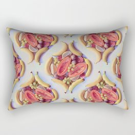 Fruit Salad - a tropical pattern  Rectangular Pillow