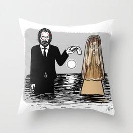 John Wick meets La Llorona Throw Pillow
