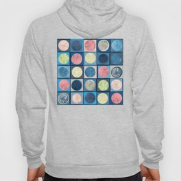 Deconstructed Watercolor Circles and Lines Hoody