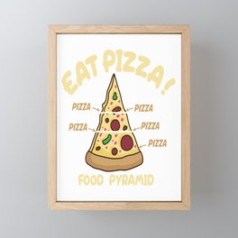 pizza hobby italy feed me pizza save the earth Framed Mini Art Print