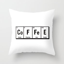 c.o.f.f.e.e Throw Pillow