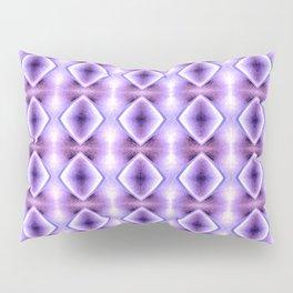 Blue Purple Geometric Diamond Pattern Design Pillow Sham