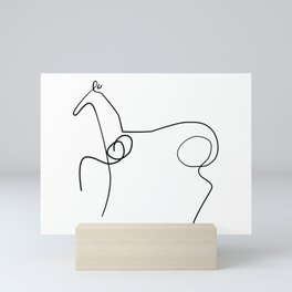 Picasso Horse Line Art Mini Art Print