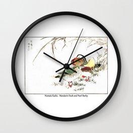 Numata Kashu Mandarin Duck and Pearl Barley Wall Clock