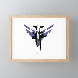 Ghost Recon: Breakpoint Assault Rifle (Blue) Framed Mini Art Print