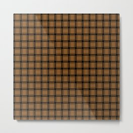 Small Brown Weave Metal Print