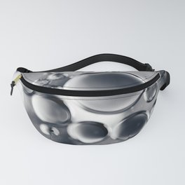 Silver Macro Photography Water Droplets Fanny Pack