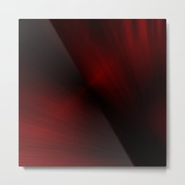 Black and Red Spray Paint Metal Print