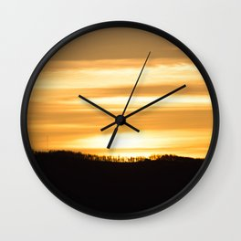 Mountain Sunset Wall Clock