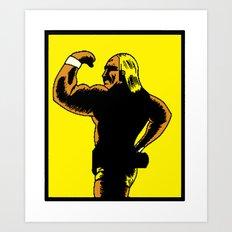 Pixelly Hogan Art Print