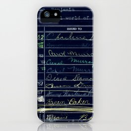 Library Card 780 The Wonderful World of Music Negative iPhone Case