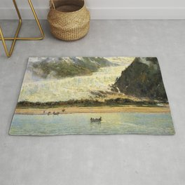 The Davidson Glacier 1888 By Thomas Hill | Reproduction Rug
