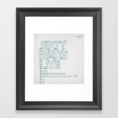 SKETCH Nº036 Framed Art Print