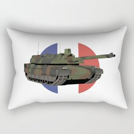 French Tank Leclerc with Flag Rectangular Pillow