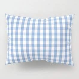 Classic Pale Blue Pastel Gingham Check Pillow Sham