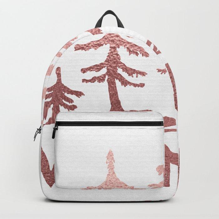 WANDER Adventure Forest Rose Gold Pink Backpack