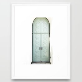 griffith observatory door in l.a. Framed Art Print