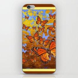 Caramel Color Monarch Butterflies Butterflies  Fantasy Abstract iPhone Skin