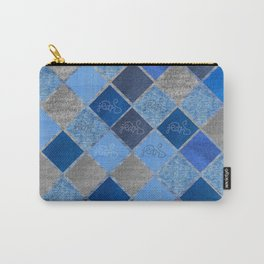 Denim Composition V4 Carry-All Pouch