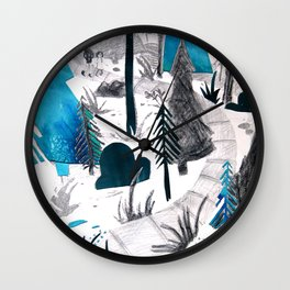 And the Children, They Know - Teal Wall Clock