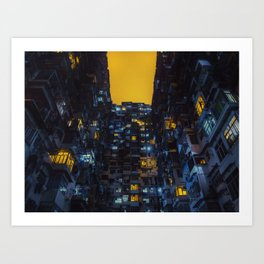 Ghost In The Shell Vibes / Liam Wong / Hong Kong Cyberpunk Art Print