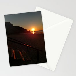 Shack by the sea at sunrise Stationery Cards