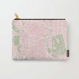 Madrid map vintage Carry-All Pouch