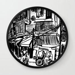 A Street Scene in Hanoi Wall Clock