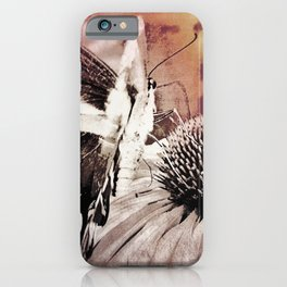 coneflower and butterfly iPhone Case