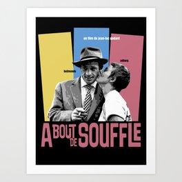 A Bout de Souffle Art Print