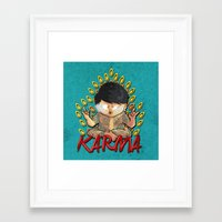 karma Framed Art Prints featuring Karma by Seez
