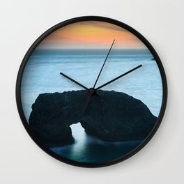 Sunset at Arch Rock Wall Clock