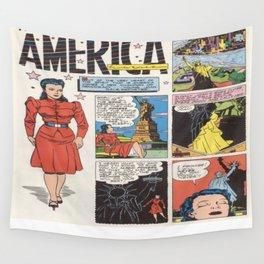 Miss America Quality Comics Wall Tapestry
