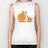 clockwork orange Biker Tanks featuring Vitamin by Florent Bodart / Speakerine