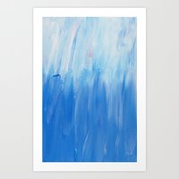 Palette colours - white and blue Art Print