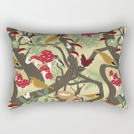 North American Forest Pattern (Natural) Rectangular Pillow