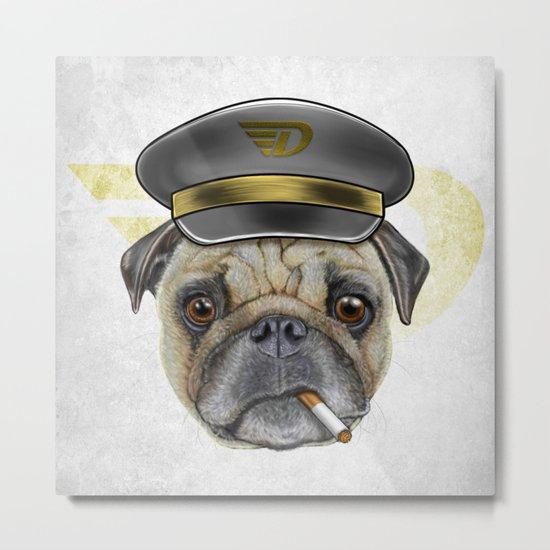 Pug Commander  Metal Print
