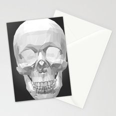 Skull in Low Poly Style Stationery Cards