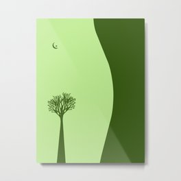 The Body of a Nature - pop art stylised erotic vector illustration in green Metal Print