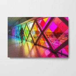 Walking in color Metal Print