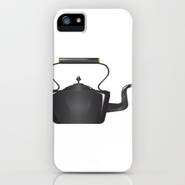 Victorian Cast Iron Kettle iPhone Case