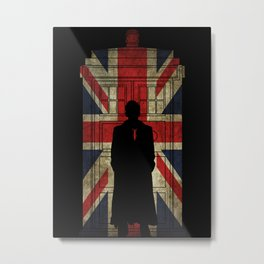 10th Doctor UK flag Metal Print