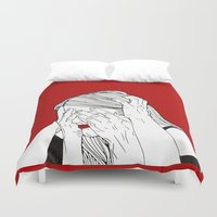 introvert Duvet Covers featuring Introvert 3 by Heidi Banford