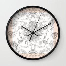 birds and native flora  Wall Clock
